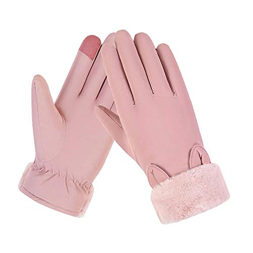 AMAZING AMAZING Warm Winter Fashion Full Finger Gloves Women's Windproof Waterproof Bicycle Slip Plus Velvet Thickening Gloves Screen Luvas/PT