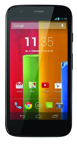 Motorola Moto G Smartphone (11,4 cm (4,5 Zoll) HD-Display, 5 Megapixel Kamera, 1,2 GHz Quad-Core-Prozessor, 16 GB interner Speicher, Android 4.3 OS) schwarz