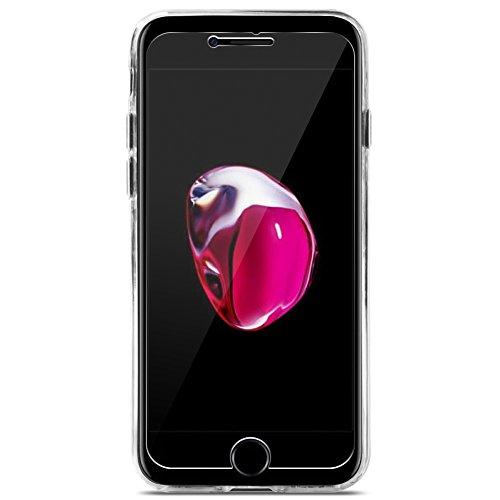 iPhone 7vetro vero Slim Case Pellicola Vetro Temperato Vetro reale Pellicola Protettiva in Vetro Temperato 9H