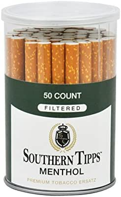 Southern Tipps Menthol - 50 Count Canister - Herbal - Cigarette Alternative - Tobacco Free - Nicotine Free