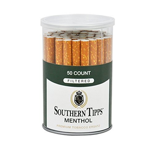 Southern Tipps Menthol - 50 Count Canister - Herbal - Cigarette Alternative - Tobacco Free - Nicotine Free (Best Selling Menthol Cigarettes)