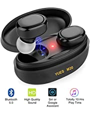 YUES M20 Auriculares Bluetooth 5.0, para iPhone y Android.
