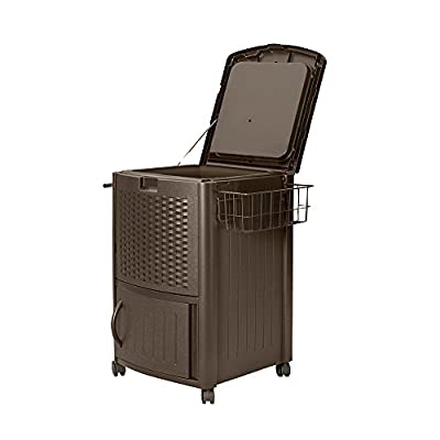 Suncast DCCW3000 Resin Wicker Cooler Java