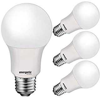 40 Watt Equivalent A19 LED Light Bulb, Soft White 2700K, E26 Standard Base, UL Listed, Non-Dimmable LED Light Bulb, 4 Pack
