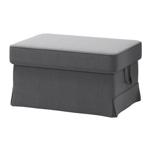 (IKEA Cover for Ektorp Ottoman (footstool) Nordvalla Dark Gray (Slipcover Only))