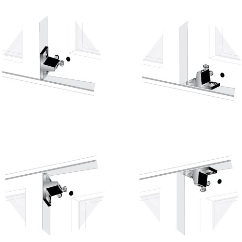 Aluminum Finish EPL-101-AL Pro-Lok Patio Door Lock Top Knob