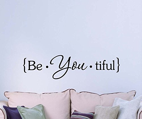 Cheap  Wall Decal Be You tiful beautiful cute Wall Vinyl Inspirational Quote lettering..