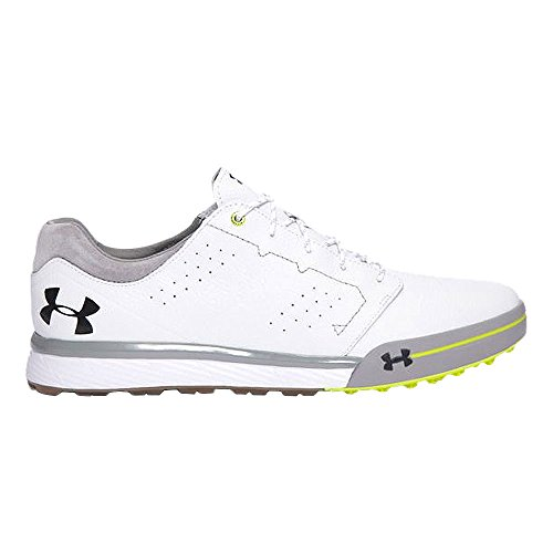 Under Armour New Mens Tempo Hybrid Golf Shoes White/High Vis Yellow Sz 11.5 M