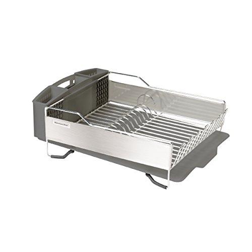 Amazon.com: KitchenAid Gourmet Stainless Steel Dish Rack, Gray: Home u0026  Kitchen