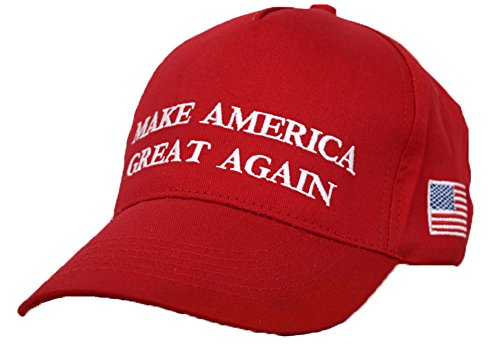 CHUNG+Adult+Adjustable+Trump+Hat+Cotton+Cap+Make+America+Great+Again%2C+Red