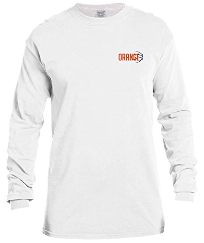 Ncaa Syracuse Orange Basketball Outline Long Sleeve Comfort Color Tee  Large  White