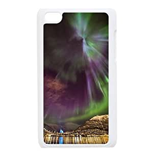 The Aurora Borealis Customized Cover Case with Hard Shell Protection for Ipod Touch 4 Case lxa#380901