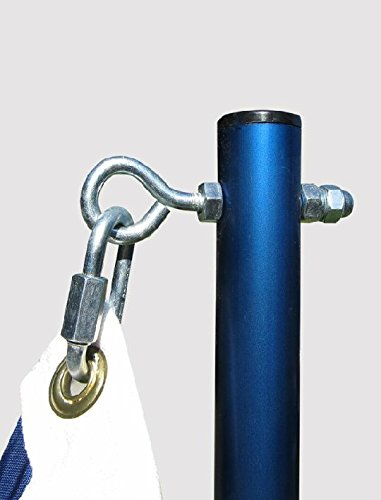 PATRIOT SALES Standard Aluminum Flag Pole Blue (Made in USA) (Holder Flag Receiver Hitch)