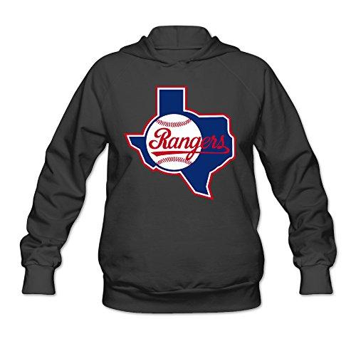 AUSIN Women's Texas Sport Logo Ranger Hoodies Black Size -