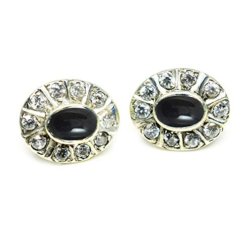 CHOOSE YOUR GEMSTONES COLOR Real Stud Earrings For Women 925 Sterling Silver Wedding Fashion Jewelry Gift