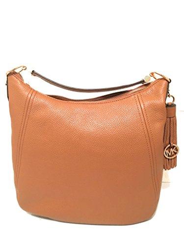 Michael Kors Women's Frances XLarge Leather Shoulder Handbags (Acorn)