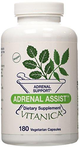 Vitanica - Adrenal Assist - Adrenal Support - 180 Vegetarian Capsules
