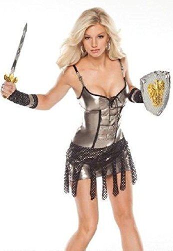 [Ponce Gladiator Costume Medieval Knight Warrior Armors] (Womens Elf Warrior Costume)