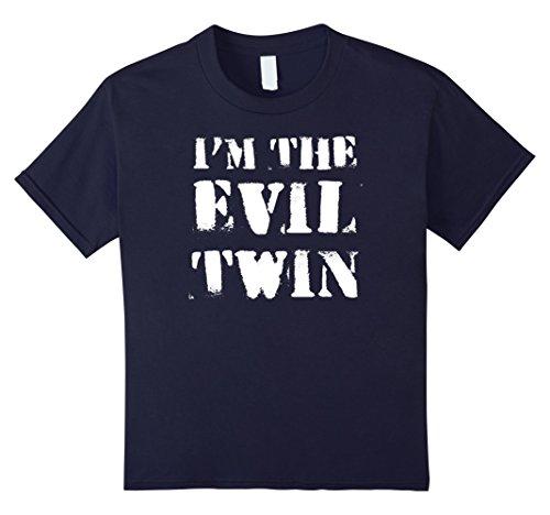 Good Evil Costumes Ideas (Kids Im The Evil Twin | Funny Halloween Horror Shirt 12 Navy)