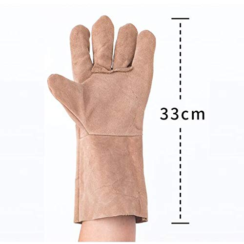 Goquik TIG Welder Protective Gloves and Long Leather Gloves, Wear-Resistant Insulation and Anti-scalding, 33cm, 10 Pairs, Random Colors by Goquik (Image #2)