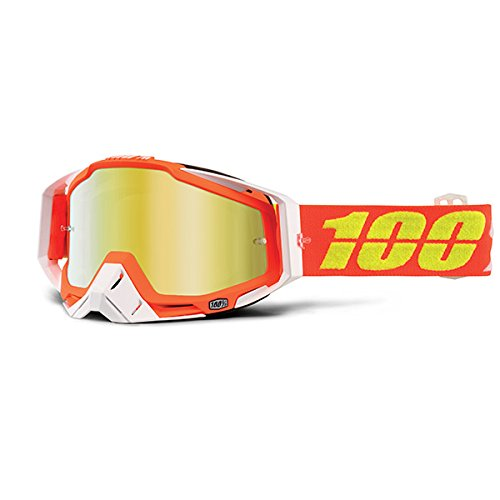 50110-192-02 Red//White Razmataz Racecraft MX Motocross Goggles with Mirrored Lens-Unisex-One Size Fits 100/% Adult