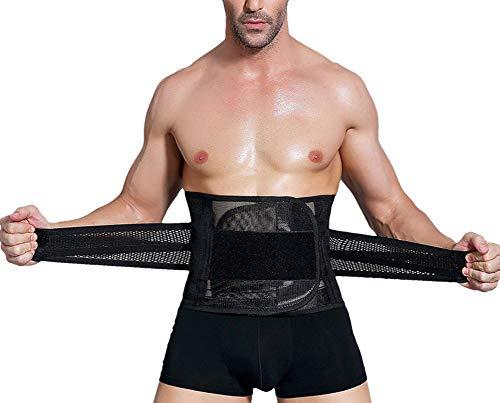 Accelerate Trainer - WW Men Belt Brace Accelerates Weight Loss Sauna Waist Trainer Caloric Burner Belt,Black,XXL
