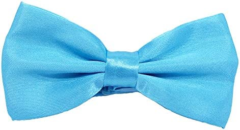 Mens Classic Pre-Tied Satin FormalBowtie Adjustable Length Many Colors Available