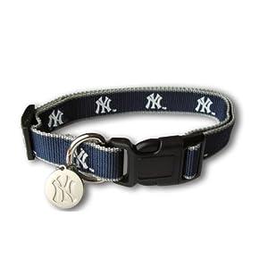 Sporty K9 MLB New York Yankees Reflective Dog Collar, Small