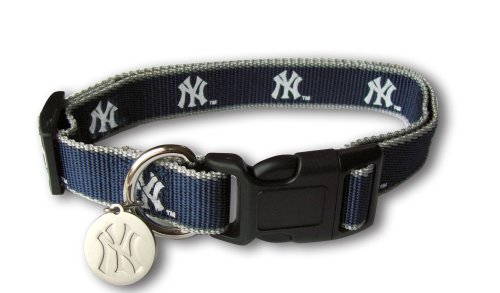 Sporty K9 MLB New York Yankees Reflective Dog Collar, Medium - New York Yankees Dog Bandana