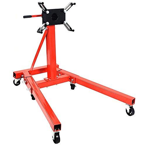 Folding Floor Crane (Kissemoji 2000lb Engine Motor Stand Hoist Auto Car Truck Automotive Folding Shop)