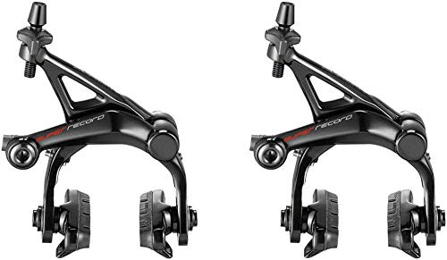 Campagnolo Super Record 12 Dual Pivot Brakes Black, Front and Rear ()