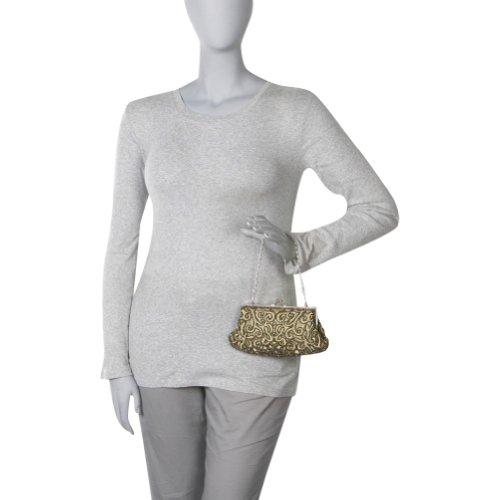 Champagne Bag Beaded Evening Furmani J SqpY07Ix