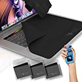 Clean Screen Wizard Microfiber Keyboard Covers Cloths, Screen Protector Cleaner Kit, and Sticker Screen Cleaning for MacBook Pro 13, MacBook Air 13, 13in Laptops, Bundle 4 Pack, Black