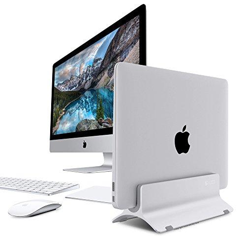 Vertical Laptop Stand, LOCA Aluminium Desktop Stand for Apple MacBook, notebooks (Silver) … Photo #4