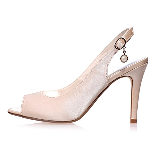 5623 Wedding YC Peep Silk amp; Shoes Night Party Purple Party More Colors L Women's Toe 18 OEnWdOq