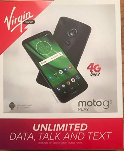 Virgin Mobile Motorola G6 Play 16GB Prepaid Smartphone, Black (Locked) (Best Virgin Mobile Android Phone)
