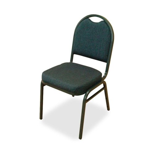 Lorell 4-Carton Stack Chairs, 18 by 22 by 35-1/2-Inch, Blueberry/Black Fabric/Charcoal Frame