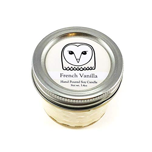 Owl Conservation Candle - Vanilla Scent | Wildlife Conservation Natural Vegan Soy Candle
