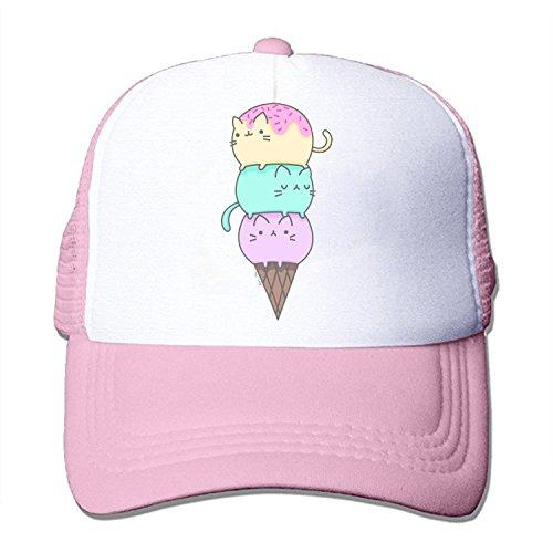 ZMvise Unisex Kawaii Cat Ice Cream Stuff Things Cute Baseball Cap Trucker Mesh Hat