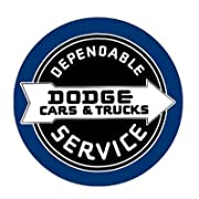 Dodge Cars & Trucks Dependable Service Retro, Vintage, Look 15  Dome Shaped Sign