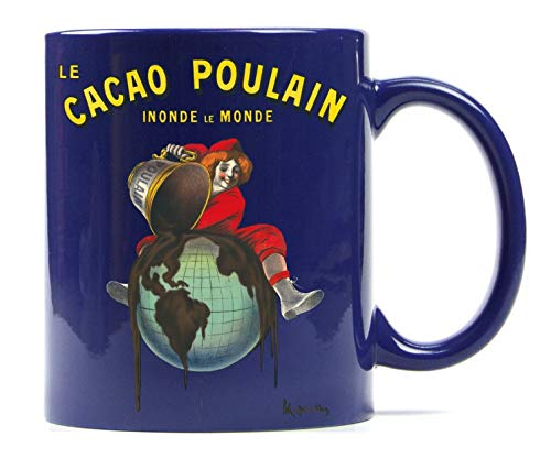 1art1 Set: Leonetto Cappiello, Le Cacao Poulain Inonde Le Monde, 1911 Photo Coffee Mug (4x3 inches) and 1x Surprise Sticker