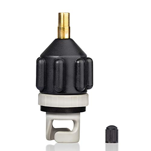 Overmont Inflatable Boat SUP Pump Adaptor Standard Schrader Conventional Air Pump Air Valve Adapter ()