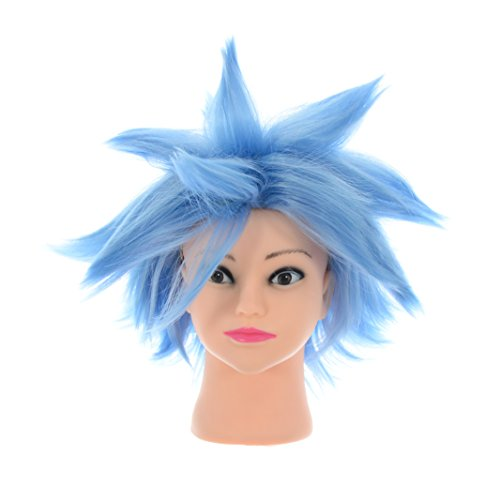 [SSJ:Dragon Ball Super Goku God Japan Anime Cosplay Costume Wig Hair Blue] (Super Saiyan Goku Wig)
