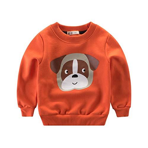 YanHoo Ropa para niños Camiseta de Manga Larga Sudaderas De Manga Larga con Estampado Animal de Dibujos Animados para niños, además de Terciopelo Grueso, ...