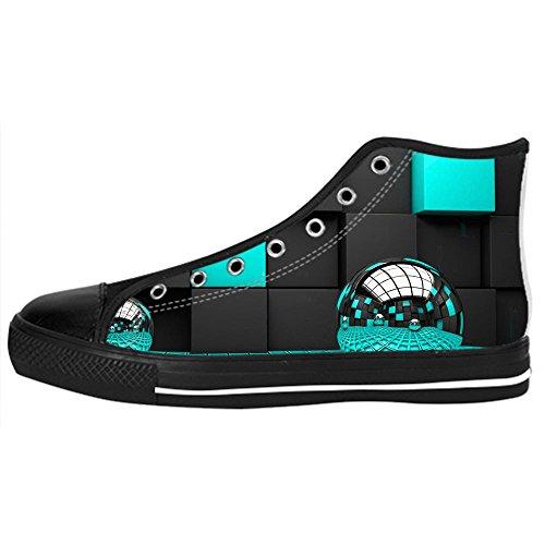di Stampa delle 3D Canvas Lacci Scarpe Sopra Ginnastica Shoes Men's Scarpe stereoscopica Le Scarpe di I Scarpe Custom Tela Alto in da RfwqdR