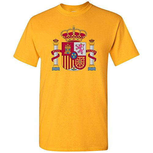Flag Spain T-shirt - UGP Campus Apparel Spain European Flag Basic Cotton T-Shirt - 3X-Large - Gold