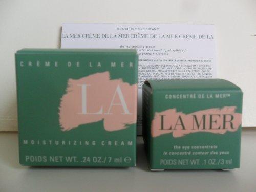 La Mer Skincare Set 2 Pieces: The Moisturizing Cream .24 oz / 7ml New In Box + The Eye Concentrate .1 oz / 3ml New In Box. Deluxe Travel Size Set. by La Mer by La Mer