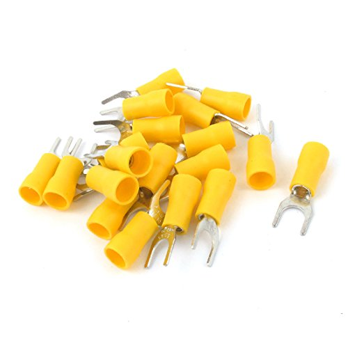(Uxcell 12-10 AWG Wire Connector Insulated Fork Terminal for 1/4 Stud, 20 Piece)