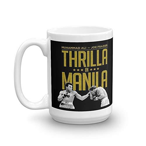 Thrilla In Manila 15 Oz White Ceramic
