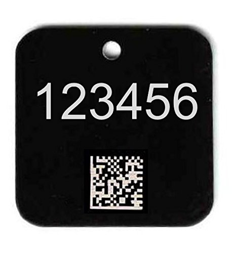 1 1/2'' Asset Tag - Customized Numbering & Barcode (Pack of 100) by National Band & Tag Company